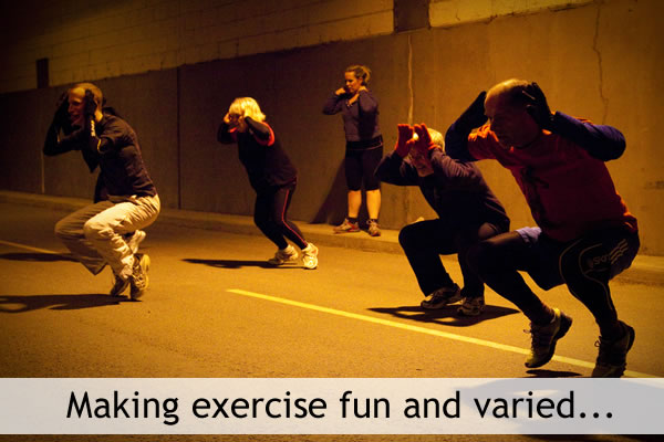 Making exercise fun and varied