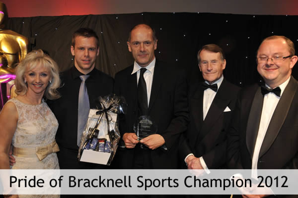 Dr. Charles Walker wins Pride of Bracknell Sporting Champion 2012