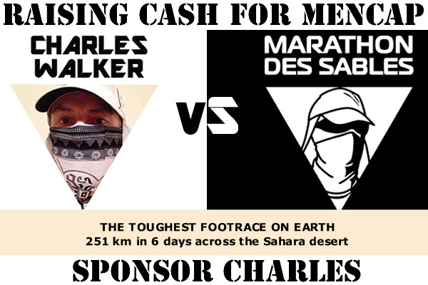 Sponsor Charles taking on the Marathon de Sables